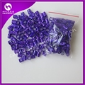 Free shipping 100pc Purple metal tube ring dreadlock beads for braids hair beads for dreadlocks adjustable hair braid cuff clips