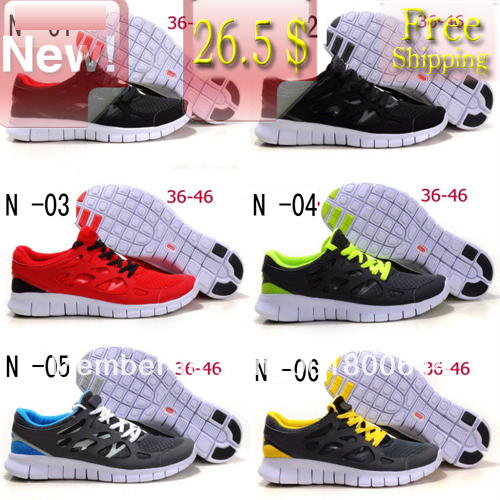 b5827924a74cb Free shipping Wholesale 2013 Newest Free Run+2 sports Sneakers Shoes For  Men And Women Top quality