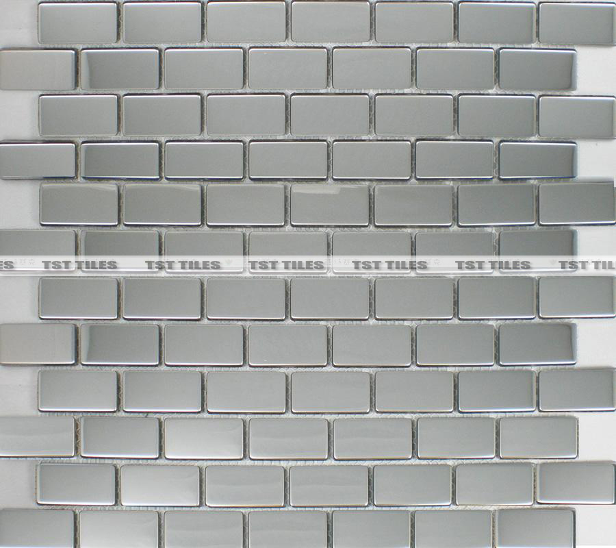Stainless Steel Kitchen Backsplash Tile Subway Brick Mosaic Tiles Silver Fireplace Bathroom Mirror Wall Sticker Decorative On Aliexpress Alibaba