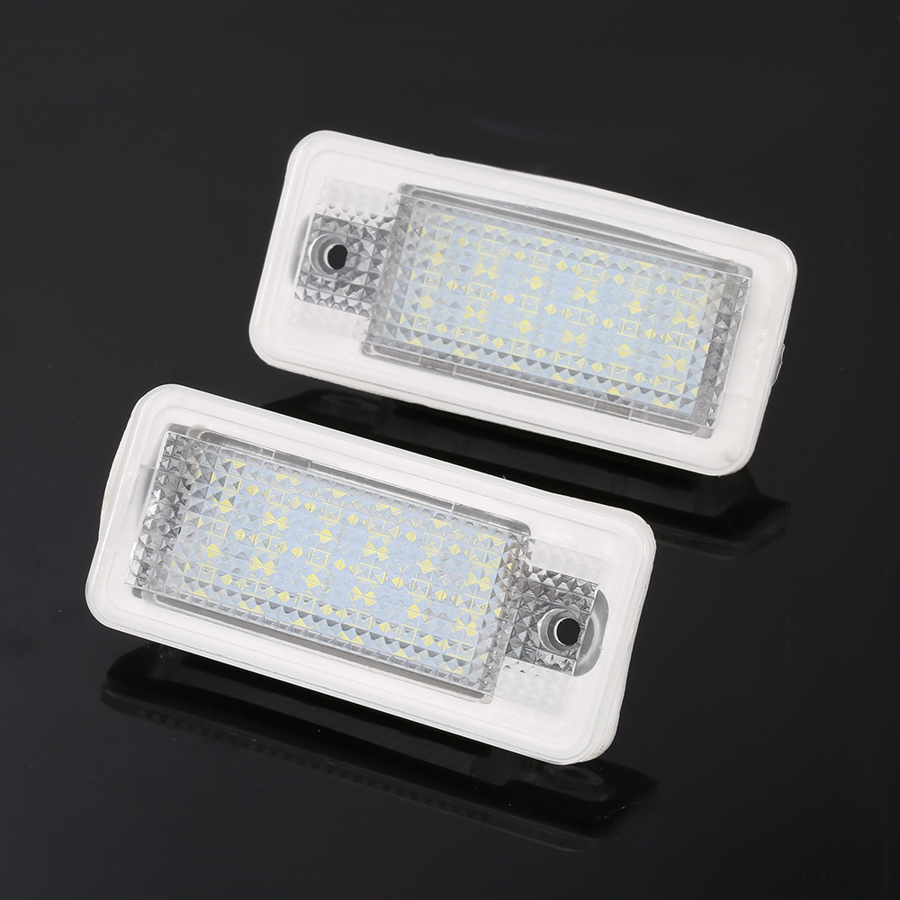 2 pieces Error Free Car LED License Plate Light Led Bulb Number Plate Lamp For Audi A3 8P A4 B6 B7 A5 A6 4F Q7 Car Styling