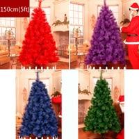 Aqumotic елочные украшения 1 шт. 5ft красный елки Декор Пластик Поддельные Зеленый Синий Purplr дерево последний ночь
