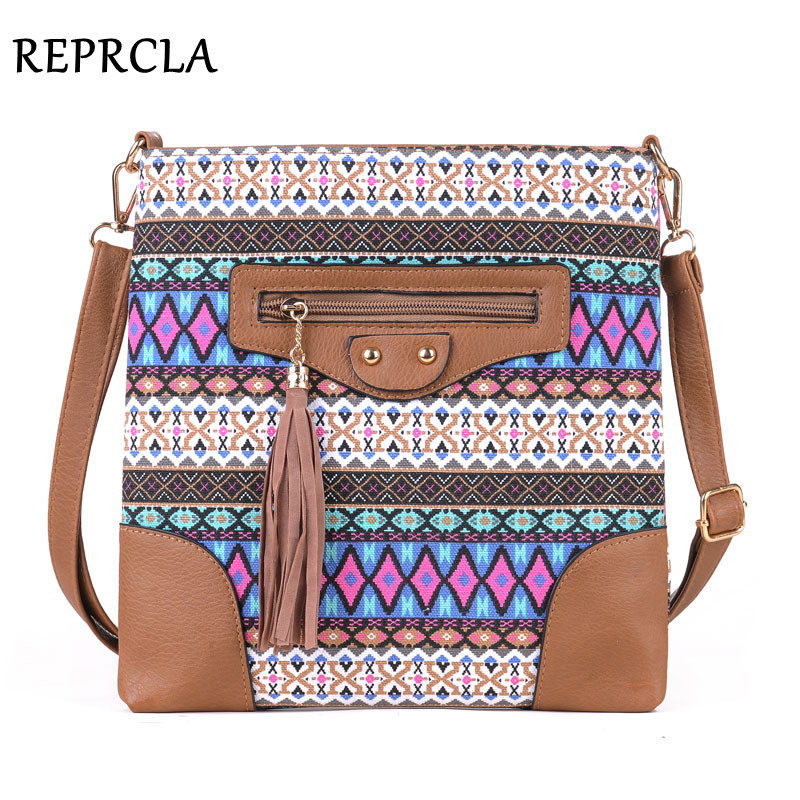 Fashion Women Bags National Canvas Women Messenger Bags Crossbody Flap Tassel Bag Handbags Designer Shoulder Bags Bolsa