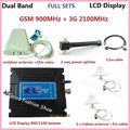 Newest LCD Display ! Dual Band 2G 3G GSM Celular signal booster GSM 900mhz 3G 2100mhz mobile Signal Repeater Amplifier 1set