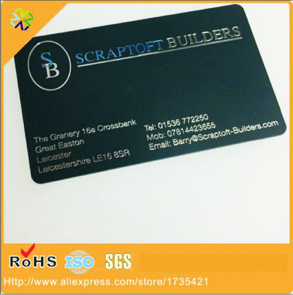 (5000pcs/lot)Customized Cheap Full Color Frosted Plastic PVC Round Corner Silver Hot Stamping Plastic Business Cards
