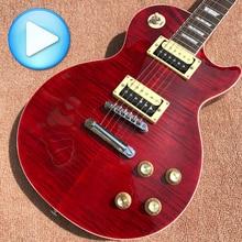 Venta al por mayor tienda de encargo 1959 R9 AAA mejor tigre fuego guitarra eléctrica envío libre del CCSME