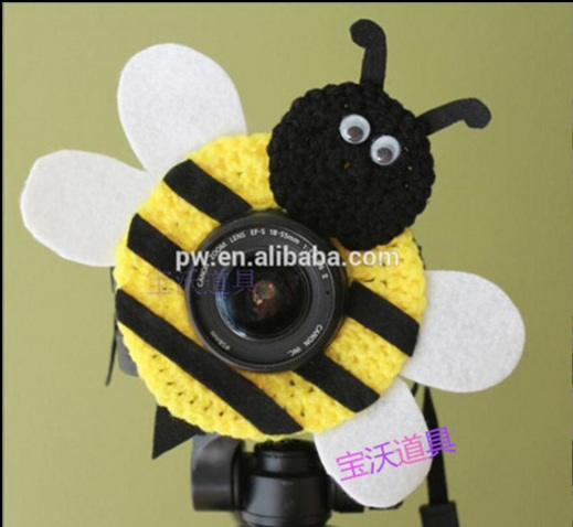 Crochet Animal Lens Buddy For Photographers Bee Toys