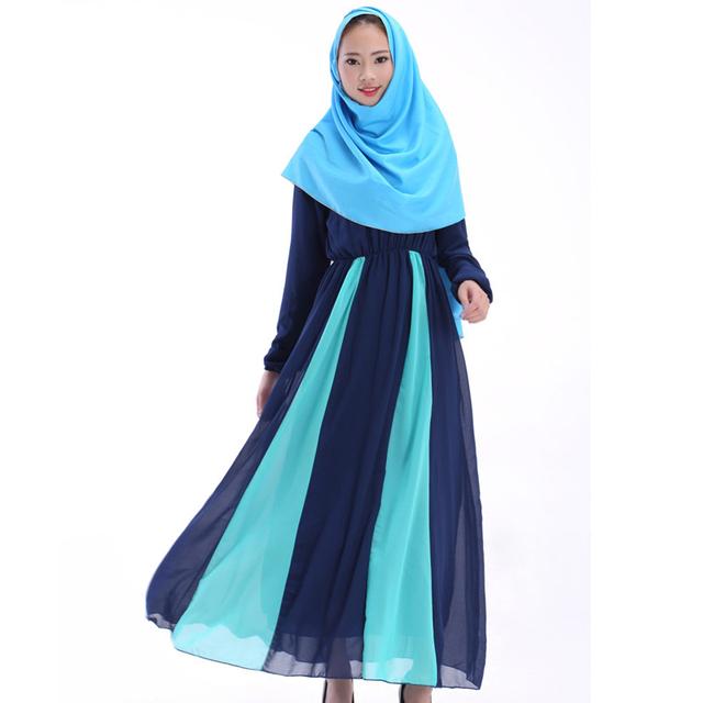 Paquistão vestido tradicional indiana real Do Vintage roupas femininas turca abayas abaya para as meninas 2 cores mulheres vestido de muçulmano Quente