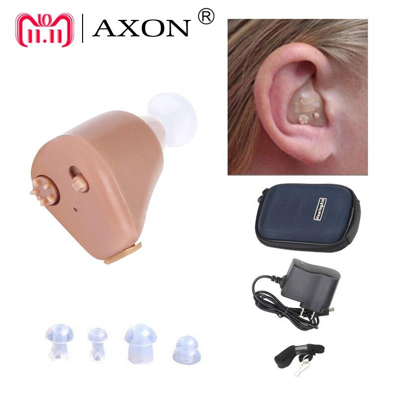 Audífono recargable Mini audífonos Axon K-88 Invisible escucha claro para los ancianos sordos oído cuidado herramientas envío de la gota