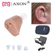слуховой аппарат Ухо помощи Перезаряжаемые мини слуховой аппарат AXON K-88 Невидимый услышать ясный для пожилых людей глухих Уход за ушами Инструменты слуховой аппарат для пожелых слуховой аппарат для пожилых людей