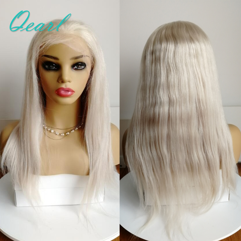 Ash BLonde Human Hair Lace Front Wigs 150 Density Pre Plucked 13 4 Brazilian Remy Hair