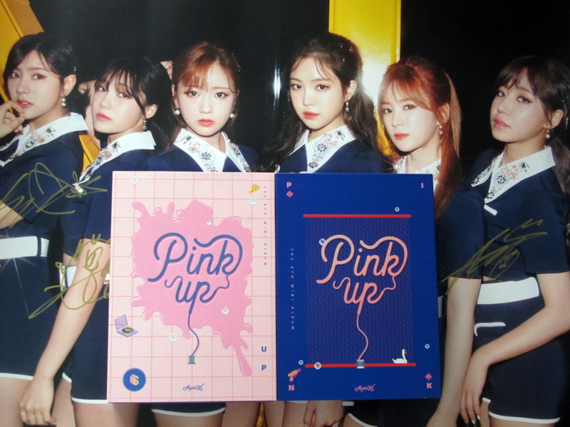 APINK autographed 2017 mini 6th album Pink UP CD korean +signed poster 072017 фразеологизмы обиходной жизни mini cd