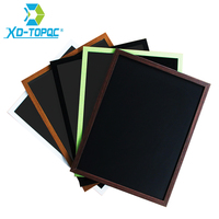 XINDI 2016 New 5 Colors MDF Frame Magnetic Wooden Blackboard 30 40cm Home Decorative Message Chalk