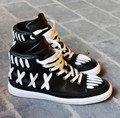 Luxury Designed Men Casual boots Original Leather High Top Trainers Shoes Flats Shoes Street Style Hip-hop Dance Man Shoes