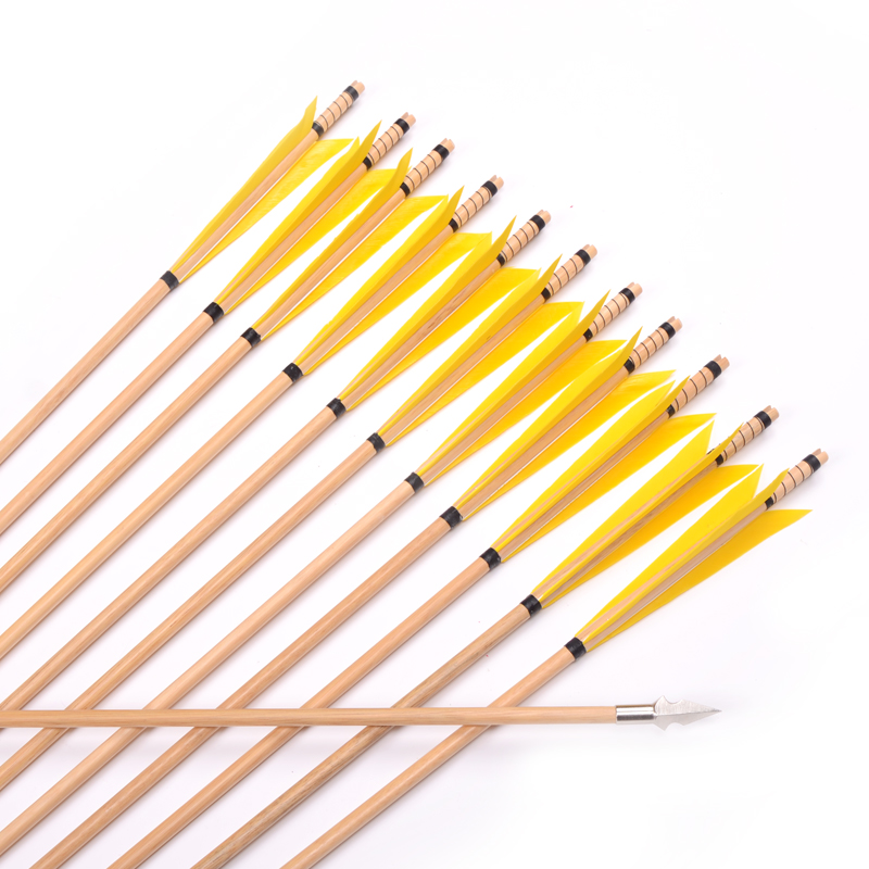 ФОТО 12pcs 31inch Hunting arrows Wooden Arrows with 5