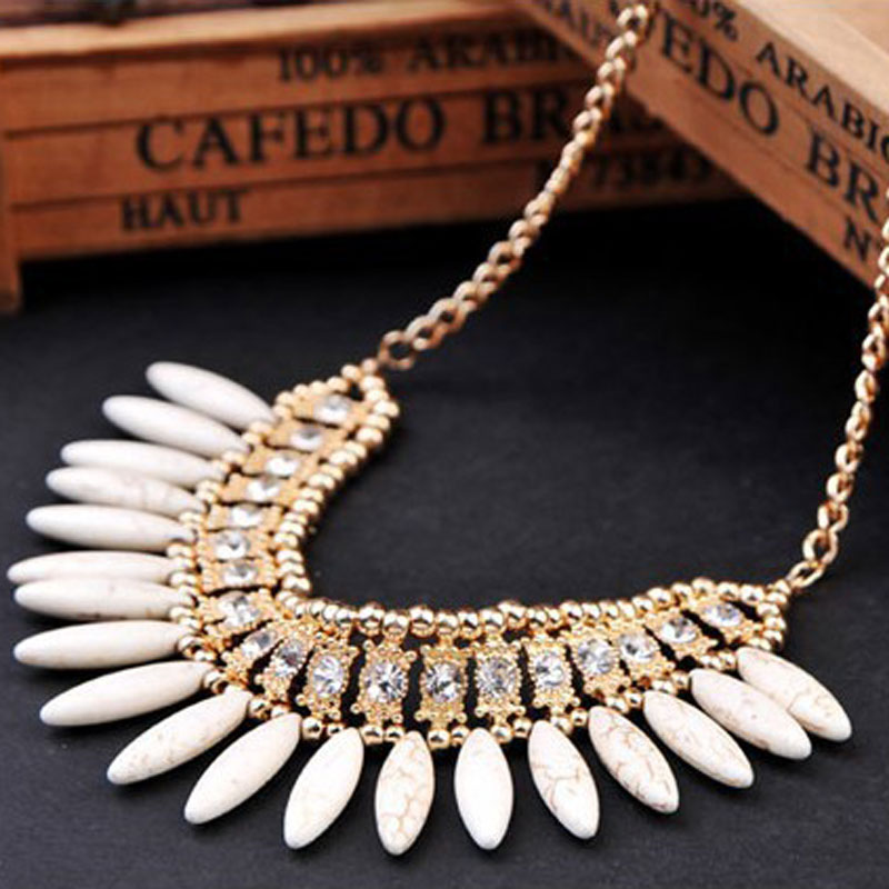 KMVEXO Statement Necklace 2019 New Women Fashion Retro Lovely Style Crystal Exquisite Tassel Choker Necklace Collier Femme