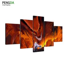 Naruto Kyubi Kuruma 5 Piece Canvas wall Art