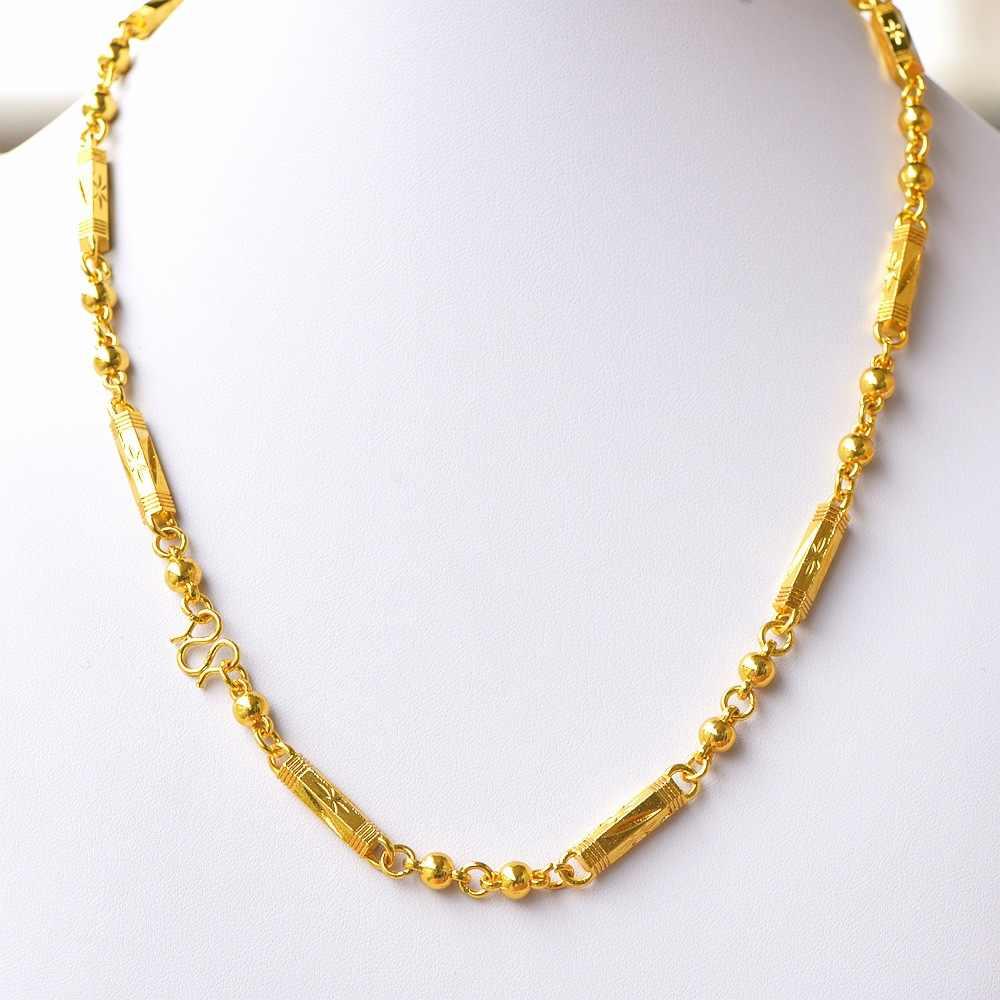 Duży złoty kolor mężczyźni naszyjnik łańcuch Link liny Figaro długi Hiphop długie naszyjniki klasyczny prezent dla człowieka Wedding Party biżuteria