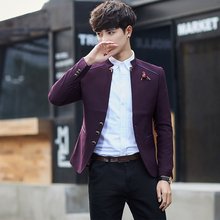 Spring and Autumn Men's Suit Jackets  S M L 2XL 3XL Navy Blue Wine Red Fashion Business Wedding Banquet Man Casual Suits Blazers