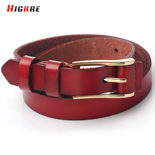 Fashion Alloy Women Ladies Leather Belts 2016 Needle Buckle Waist Belt Waistband Real Leather Cinto Feminino Couro Riem Dames