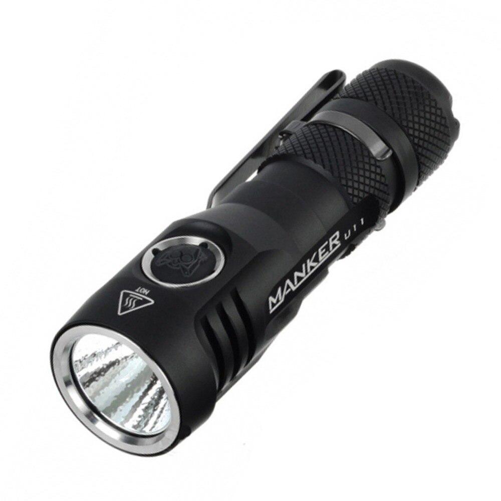 Manker U11 1050lm CREE XPL светодиодный 18650 фонарик карманный EDC usb зарядка светодиодный фонарь