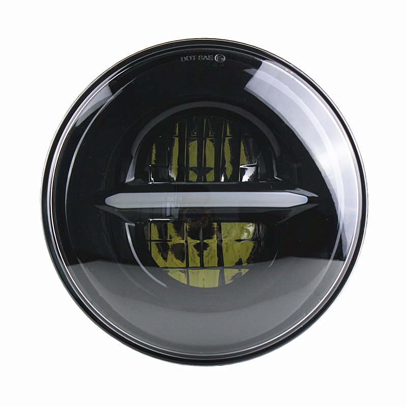 1pcs New Daymaker 7inch Round Led Headlight 7 Headlamp For Harley Davidson Motorcycle Black Projector for Jeep Wramger JK LJ CJ 7inch motorcycle daymaker replacement led headlight