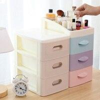 Multi layer desk shelf dressing table cosmetics girl heart storage box plastic drawer mini trumpet LM01161101