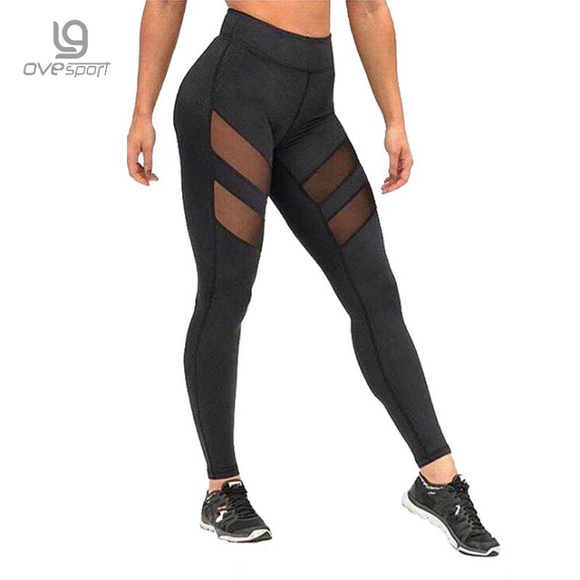 Ladies Mesh High Waist Workout Leggings Fitness Women Pants Breathable Push Up Leggings Women Quick Dry High Quality Leggins