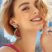 Dvacaman Wholesale Lots Bulk Earrings for Women 2019 Trendy Fruit Crystal Drop Dangle Earrings Dropshipping Jewelry Accessories