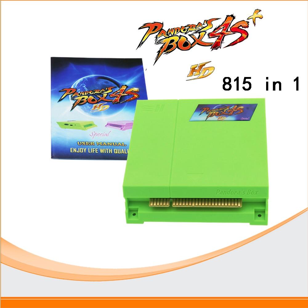Pandora's Box 4S arcade game card, VGA & CGA output 815 in 1 JAMMA multi game PCB board for arcade game machine uwinka mc u6c multi in 1 water resistance shockproof memory card storage box red