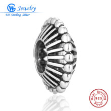 Фотография 925 Sterling Silver Hollow Space Bead Stopper Charms Fit Pandora Charms Silver 925 Original Bracelet DIY Women Jewelry Making