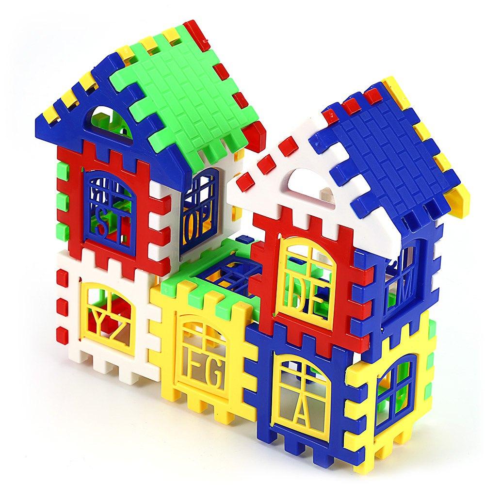 Children Diy House Building Blocks Construction Brain Development