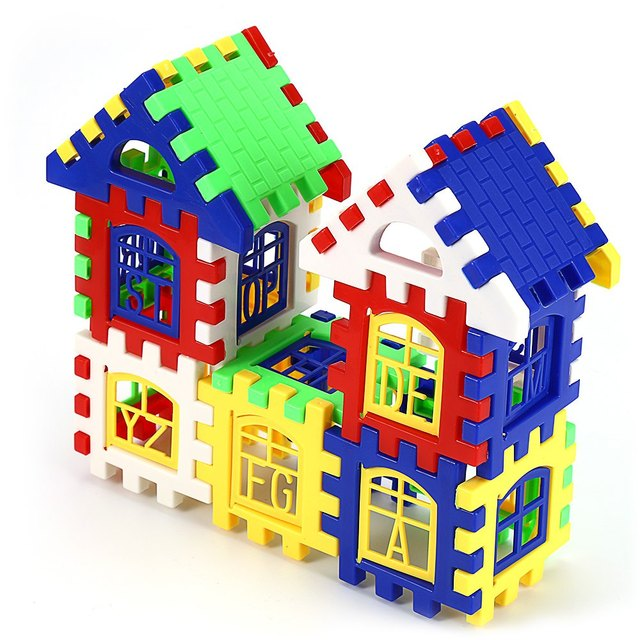 Brain Development Toys : Children diy house building blocks construction brain