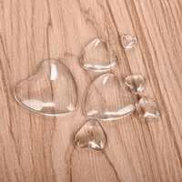 Herz Transparent Cabochon Klare Glas für DIY Schmuck Handgemachte Anhänger Zubehör 8mm 10mm 12mm 16mm 18mm 25mm 30mm