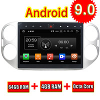 Topnavi Android 9,0 автомобилей медиа центр CD плееры для VW Tiguan 2013 2014 2015 Аудио Видео Радио стерео 2 DIN gps навигации нет DVD