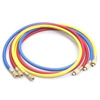 New 3Pcs/Set R134a 1.5m Automotive Air conditioning refrigerant Hose Interface 1/4 SAE 1/4 SAE three color dosing tube hose