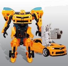 Бесплатная доставка 27 см Дети Brinquedos Преобразование 4 Игрушки Робот Автомобилей Аниме Фигурку Класса Juguetes Рождественский Мальчики Подарок