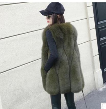 New Arrival 2018 Winter Warm Fashion Women Faux Fur Vest Outerwear Womens Faux Fox Fur Coat