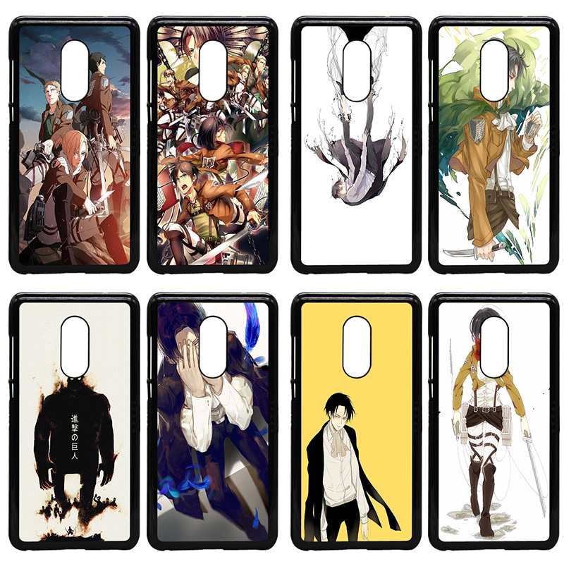 Japanese Anime Attack on Titan Cell Phone Case Hard PC Cover for Xiaomi Redmi 3X Mi 6 5 5S Plus Note 4X 2 3 3S 4 Pro Prime Shell