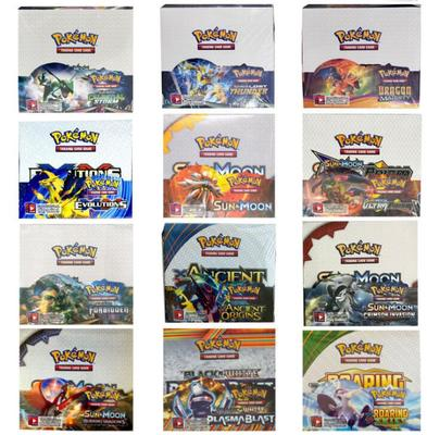 36 Packs Per Box Pokemon TCG: Sun & Moon Forbidden Light Booster Sealed Box Collectible Trading Card Set Child Toy Gift