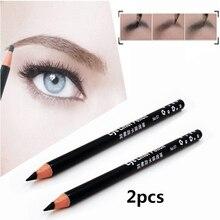 2 шт. карандаш для бровей легкое использование подводка для глаз профессиональный подводка для глаз карандаш черный и коричневый