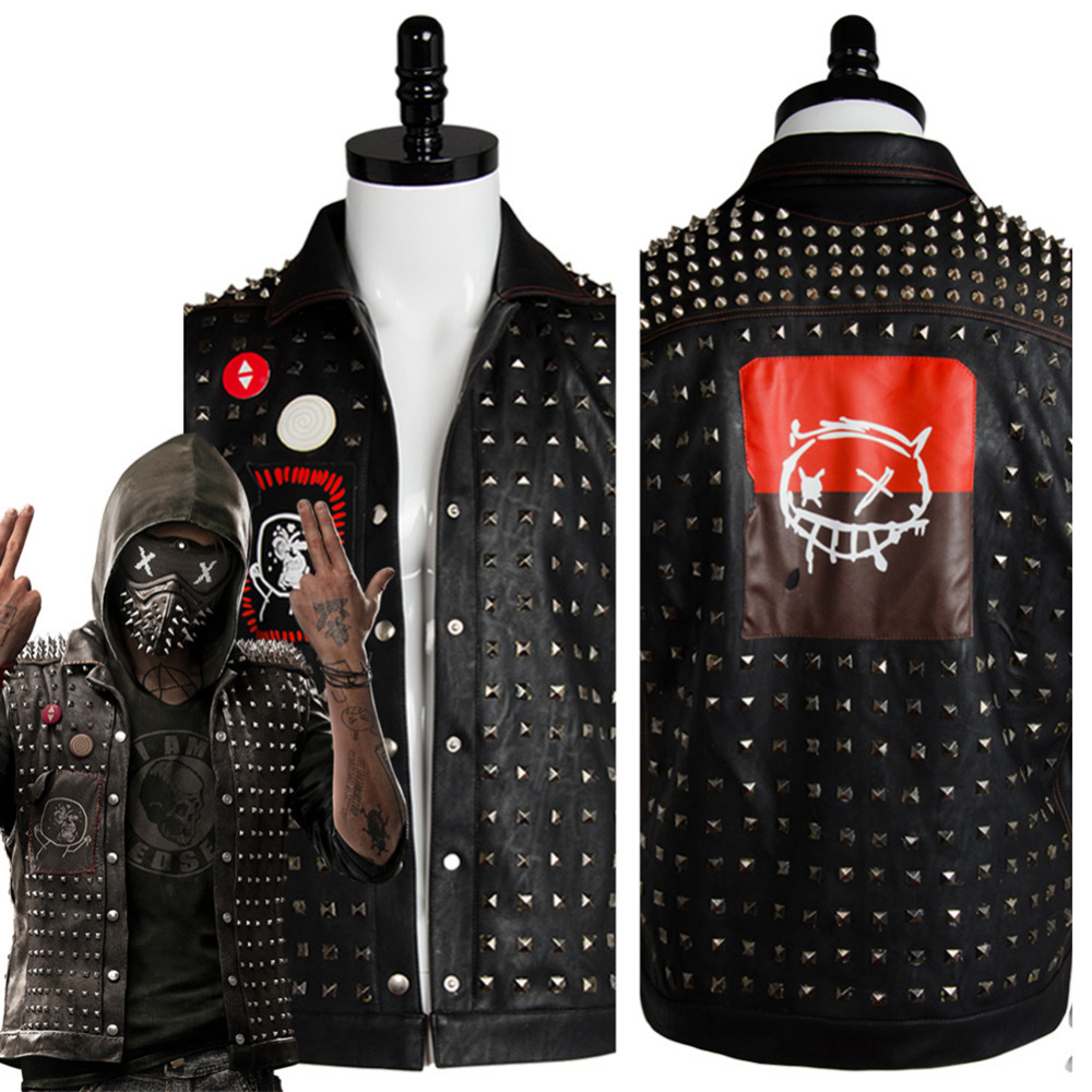 Watch Dogs 2 Cosplay Costume Wrench I am Dedsec Shawn Baichoo Vest Cosplay Costume Halloween Carnival Costumes For Adult Men