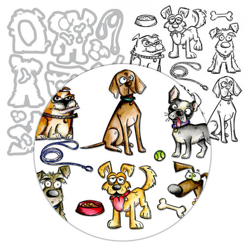 Buy dog dies and stamps scrapbooking and get free shipping on ...