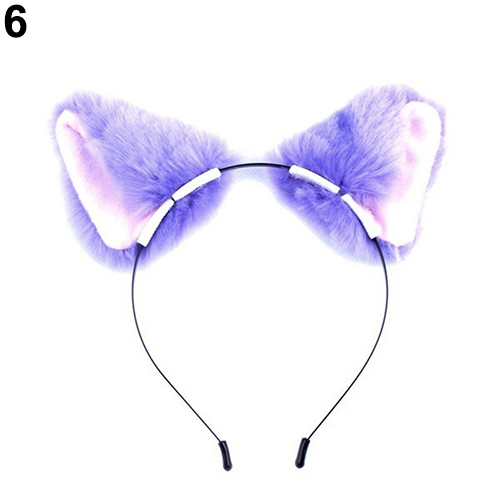 New Arrival Girl's Cartoon Cute Furry Cat Fox Ears Prop Headband Hairband for Cosplay Party