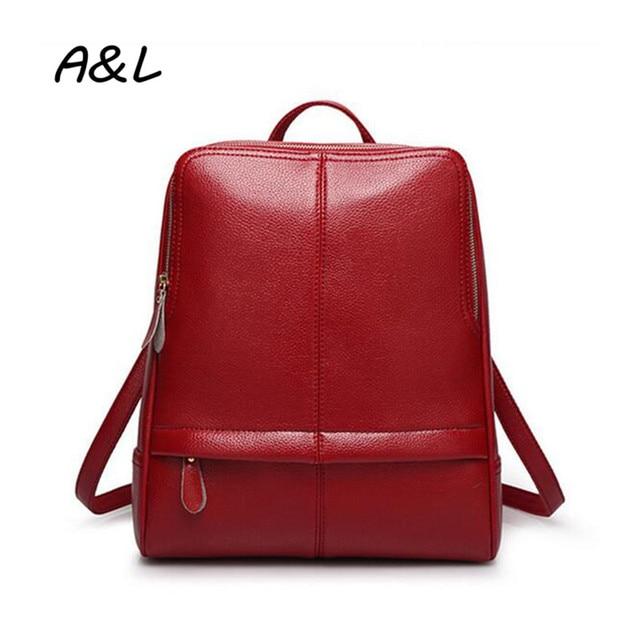 244c731f48 2016 Women Backpack Brand Designer PU Leather Shoulder Bag Lady Vintage  Fashion Outdoor Travel Backpack Girl School Bag A0087