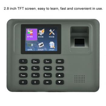 2 8in LCD linii papilarnych hasło maszyna do rejestracji czasu pracy kontroli dostępu nie ma oprogramowania rozpoznawanie linii papilarnych tanie i dobre opinie VBESTLIFE