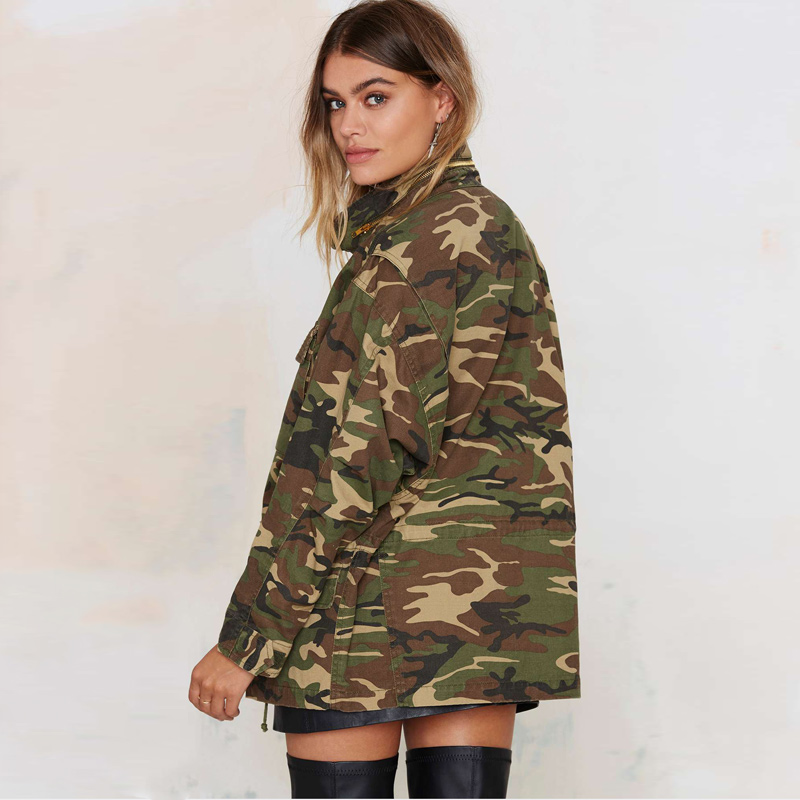 HIJKLNL Fashion Military Women Bomber Jacket 2017 Spring Zipper ...