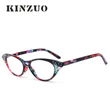 KINZUO  Light and transparent fashion ladies'special reading glasses Cat Eye Glasses Prescription Glasses for hyperopia (China)