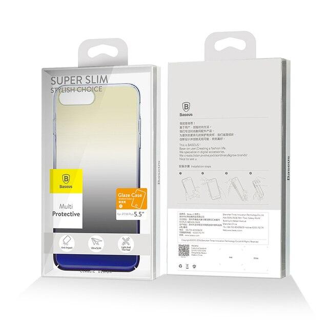 Baseus Luxury Plating Gradient Hard Plastic Case for iPhone 7 7 Plus 8 8 Plus (Ultra Thin PC Case) 5