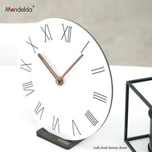 Mandelda Modern Bracket Wall Clock Digital Northern European-style Creative Livingroom Decorative Silent Table Watch