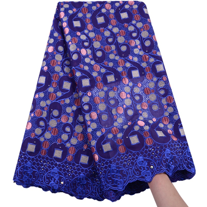 African Voile Lace Fabric Embroidered Nigerian Dry Cotton Lace Fabric High Quality 2019 French Tulle Voile